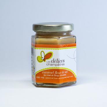 Caramel fleur de sel au miel et sirop d'érable